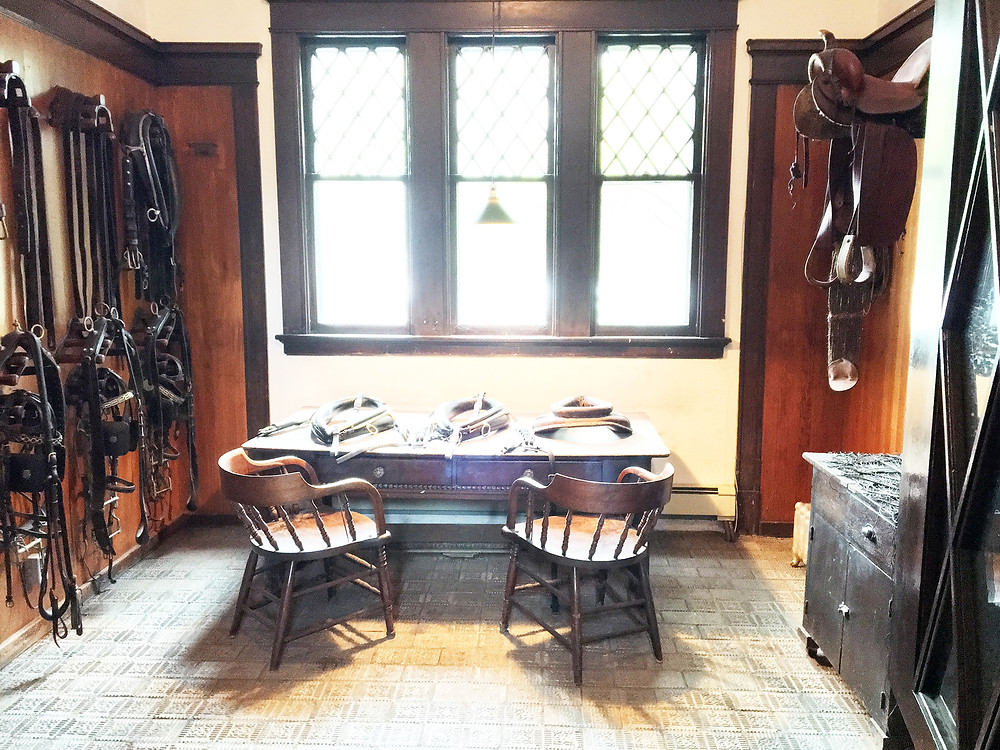 EH Design Blog - Carriage House of Tack Room showing the table in front of the window