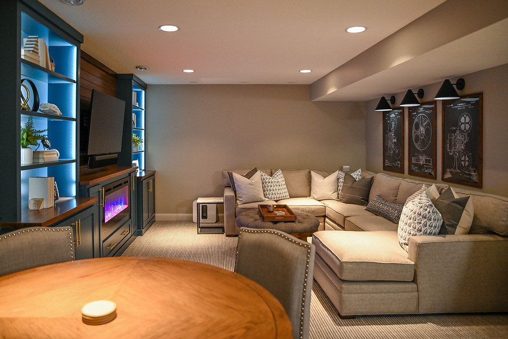 basement movie and game space