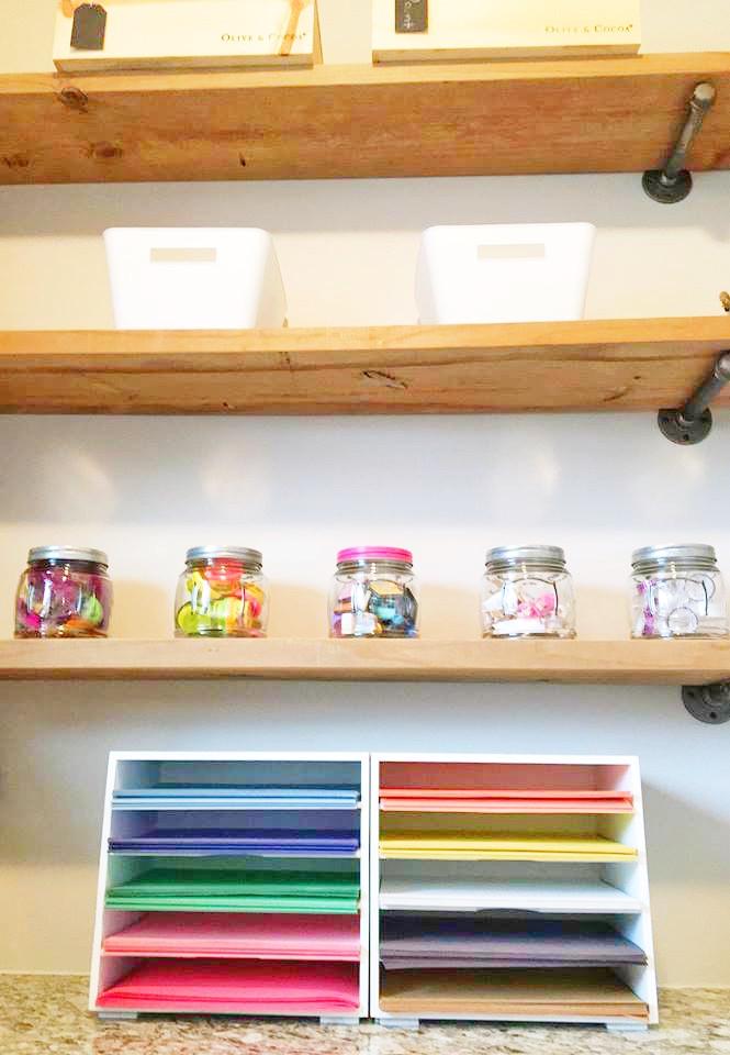 Tiny Art Room - EH Design Blog - Close up of Paper Sorter