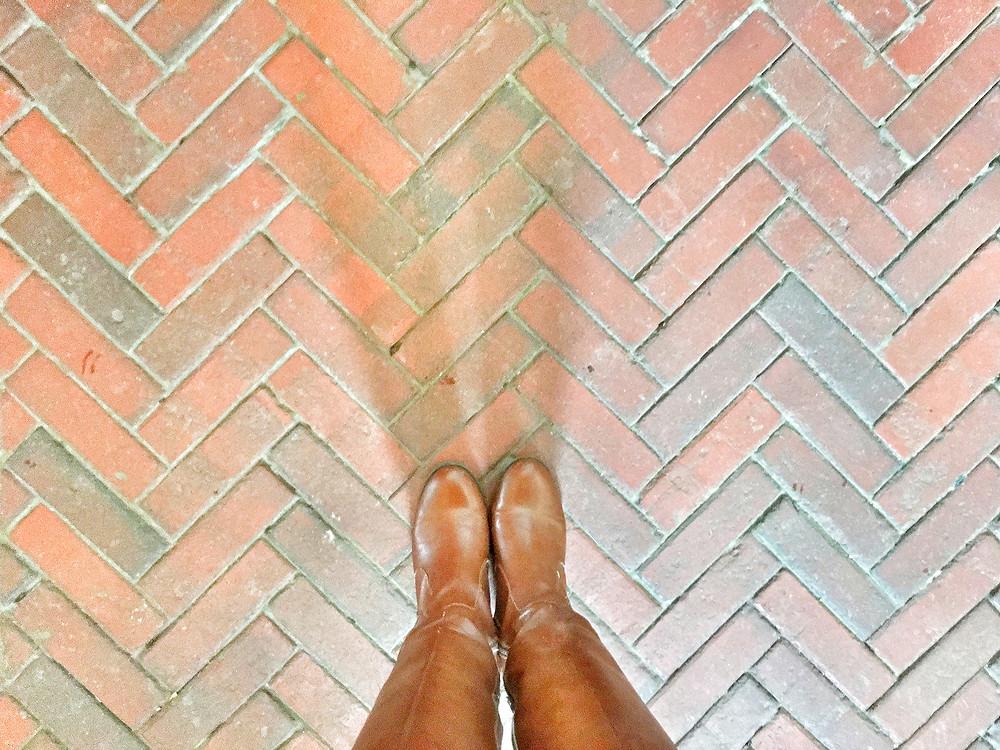 EH Design Blog - Carriage House of the brick chevron Floor
