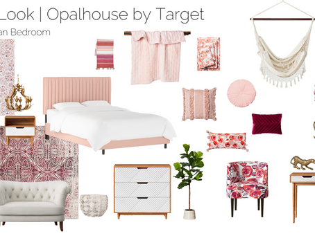 Blush Bohemian Bedroom Design | Opalhouse by Target