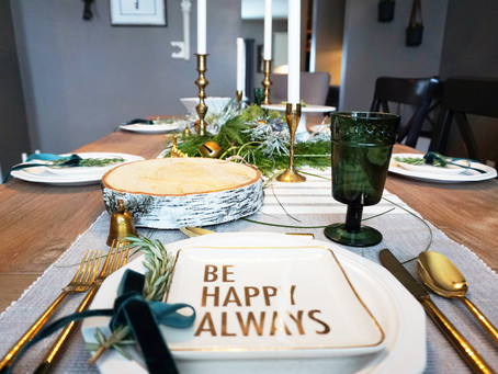 Wine and Dine with EH Design | Holiday Table Setting 2017 | EH Design