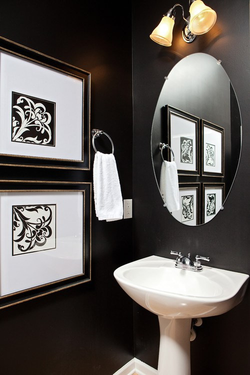 Cabinet Color Sherwin Williams Caviar - Design by Just Jill Interiors