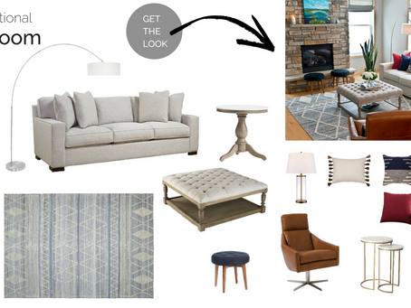 Get the Look | Modern Traditional Family Room Design