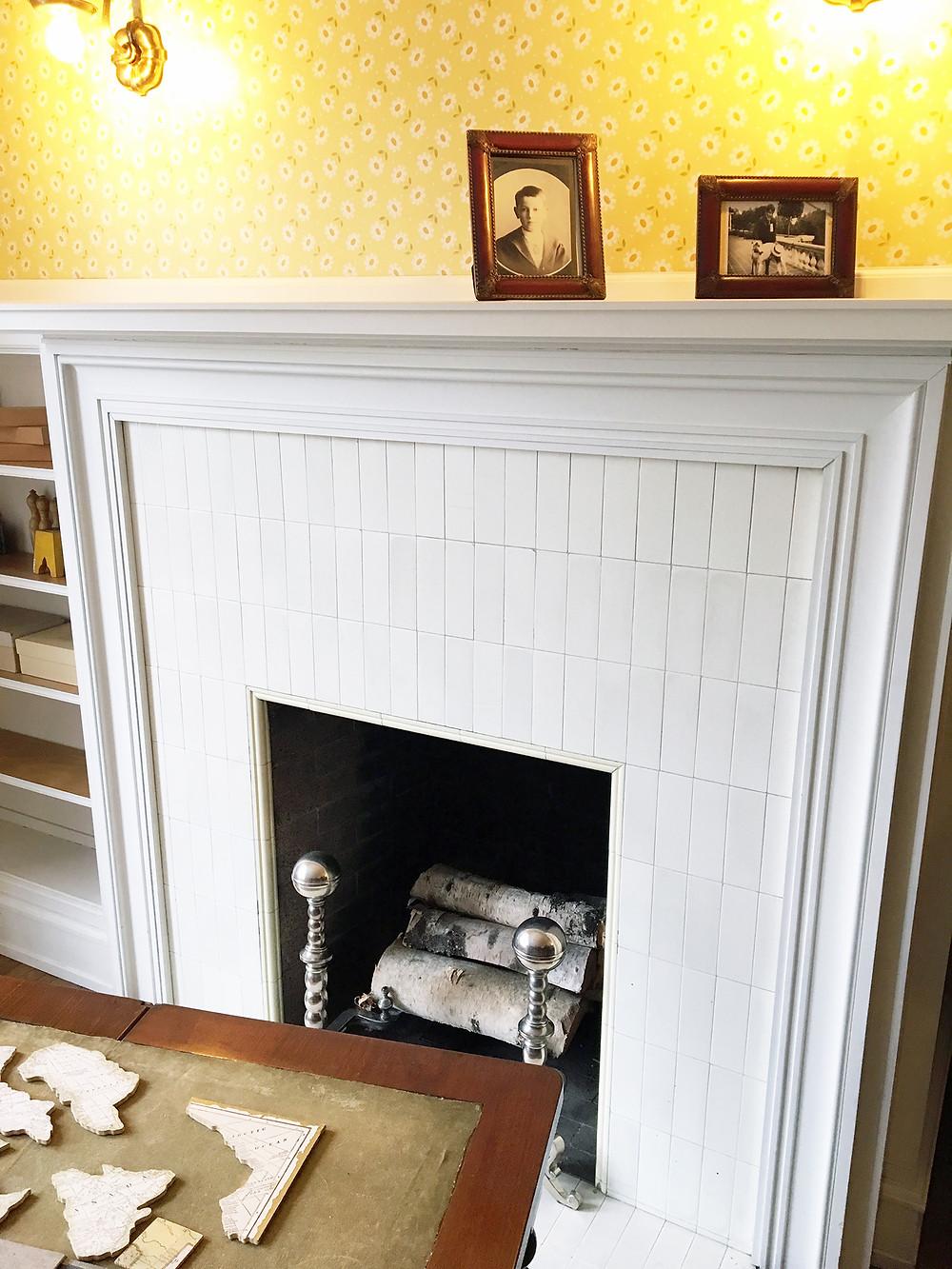 EH Design Blog - Glensheen Mansion - Bedroom Fireplace with Thin Subway