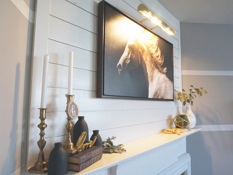 Fireplace Shiplap Facelift | EH Design