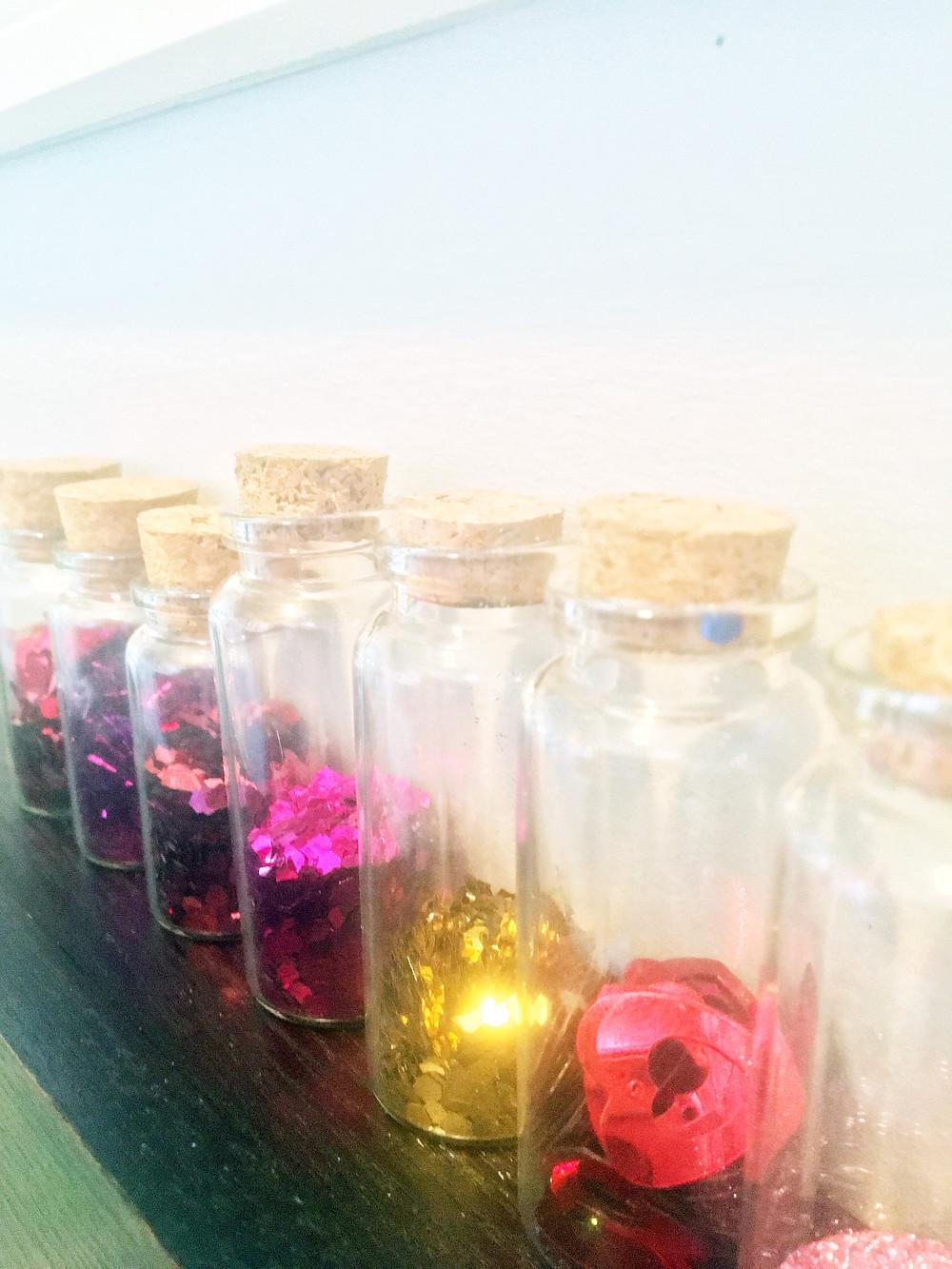 Tiny Art Room - EH Design Blog - Close Up to Glitter