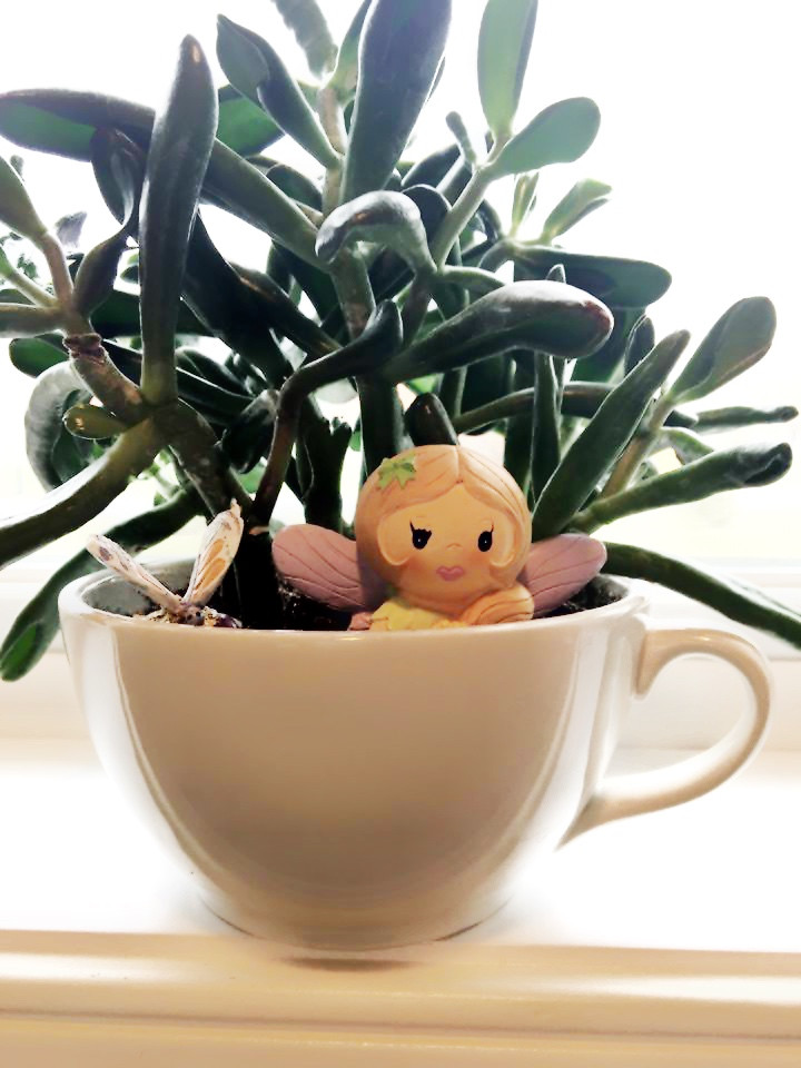 Tiny Art Room - EH Design Blog - Close up of plant in cup