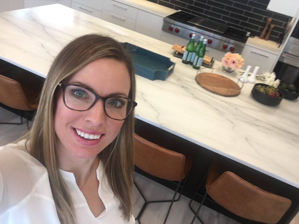 EH Design Blog - Modern Kitchen Reveal - Island Marble Countertop