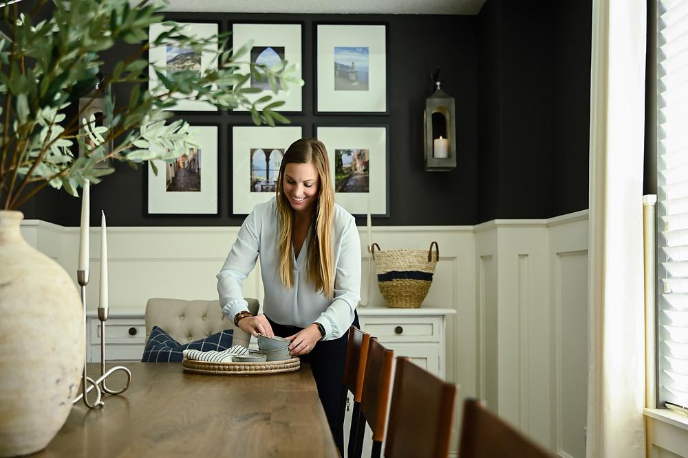 Interior Designer Styling the Dining Room
