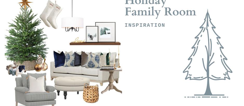 Holiday Family Room Design Inspo