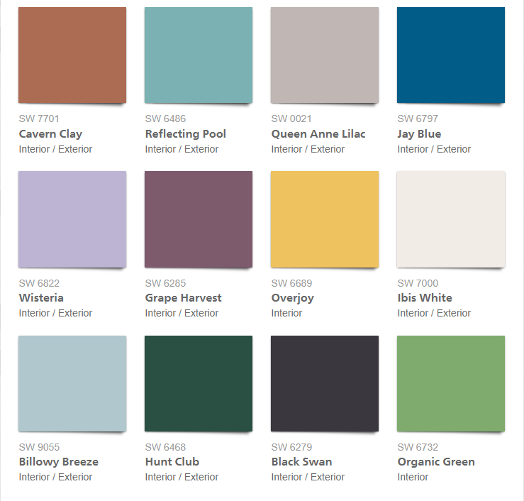 Sherwin Williams Color Palette 2018 - Connectivity