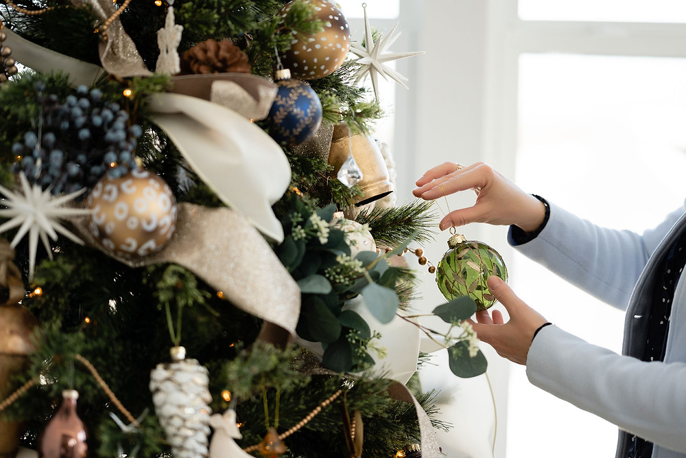 Decorating the Christmas Tree for the Holidays