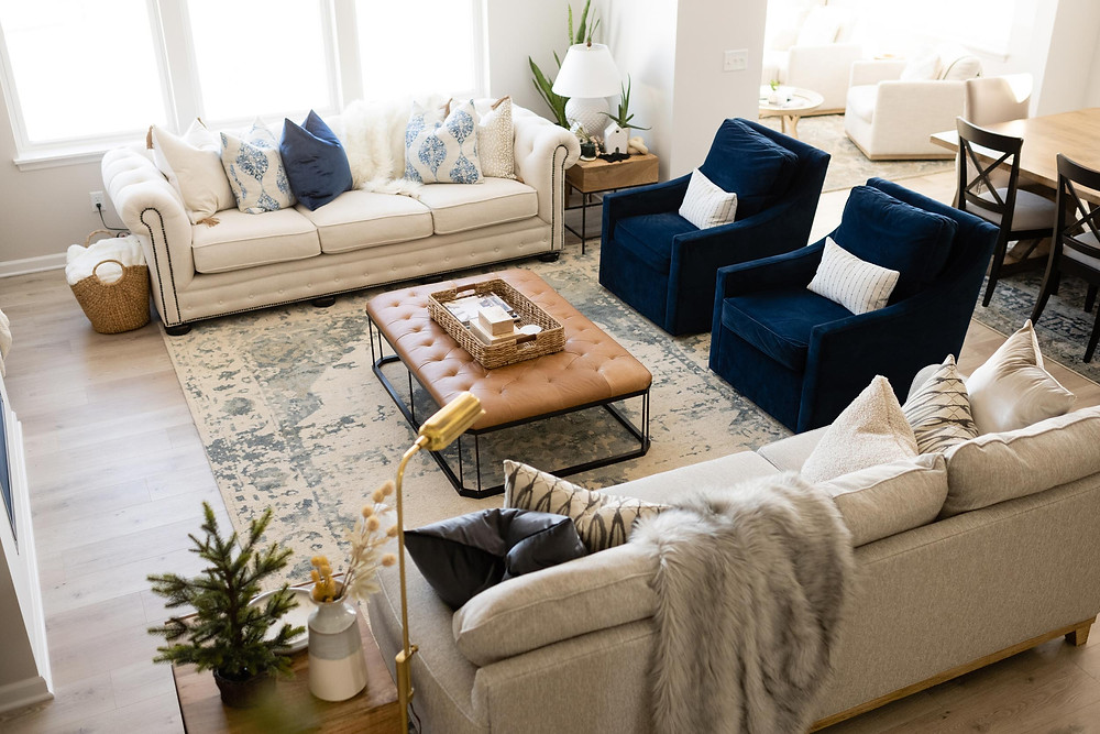 Arial Family Room Space