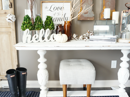 Transition your Space | Fall Entry Decor