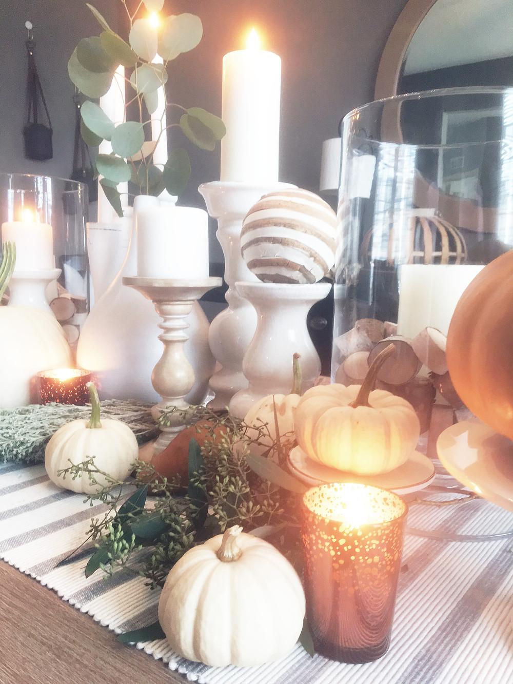 Fall Decor - EH Design Blog - Dining Room - Full Tablescape