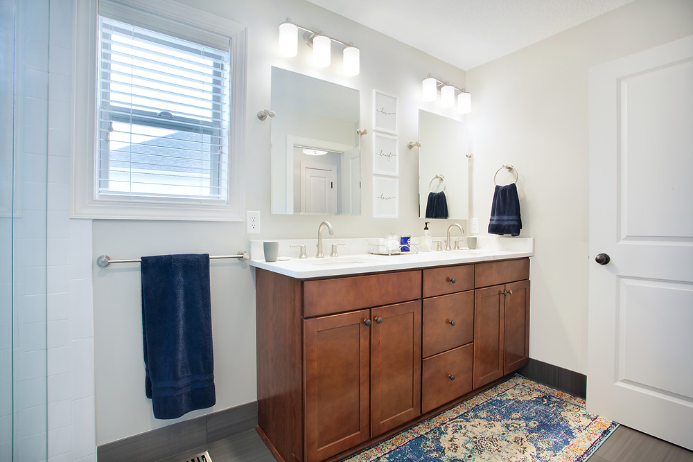 Master Bathroom Reveal: Grove Project | EH Design