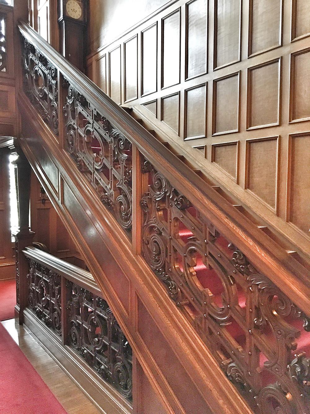 EH Design Blog - Glensheen Mansion - Stairway and Wall Paneling