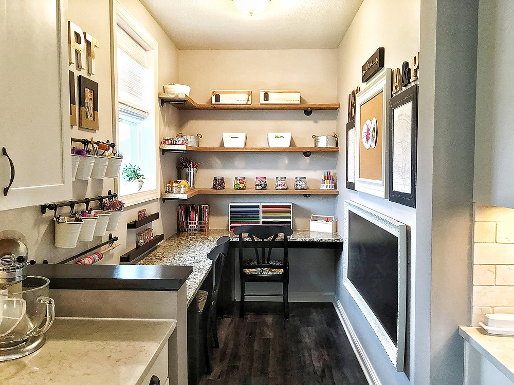 Tiny Art Room - EH Design Blog - Fintorp Buckets and system holding art supplies