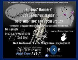 Phat Trax Live New Artist Call Flyer Pre