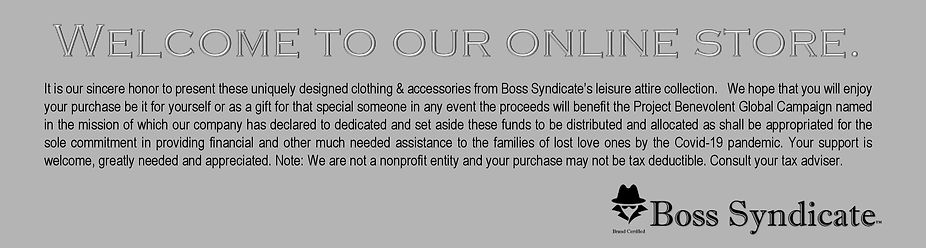 Online Store Welcome and Information Ban