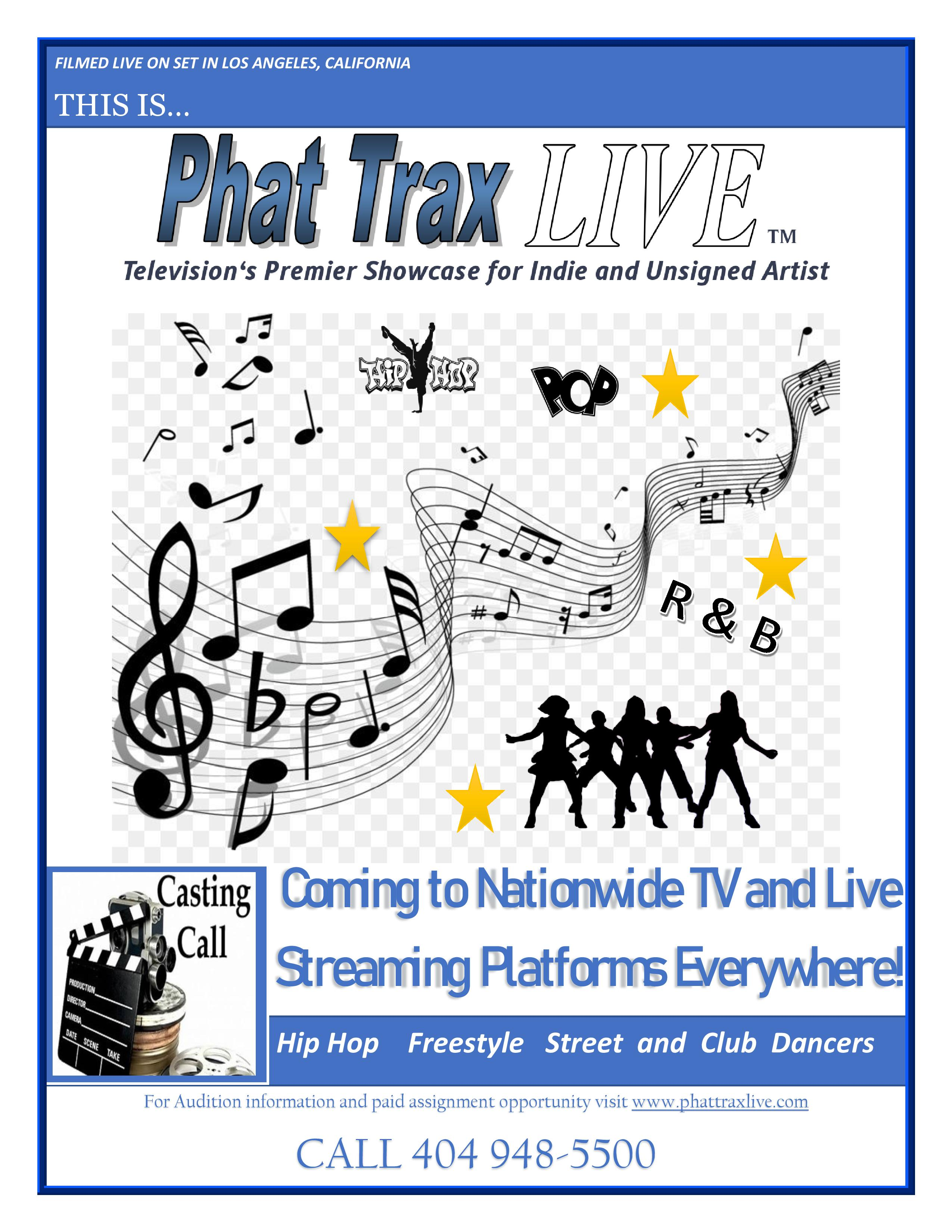 Phat Trax Live Dancers Casting Poster pr