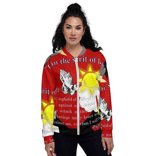 It's all in the Spirit Love Psalm 27:1 Unisex Bomber Jacket