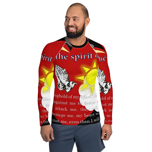 It's all in the Spirit Of Love  Psalm 27:1 Snug Fit Men's Rash Guard