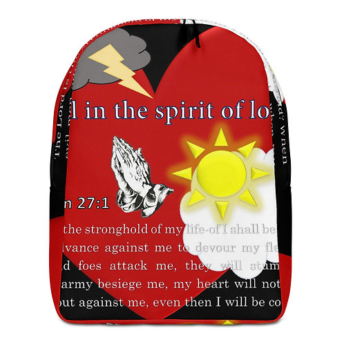 It's all in the spirit of love Minimalist Backpack