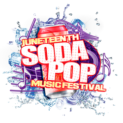 Juneteenth Soda Pop Music Festival Logo.