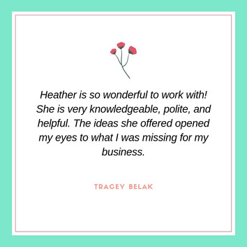 Heather Cherry Consulting Testimonial