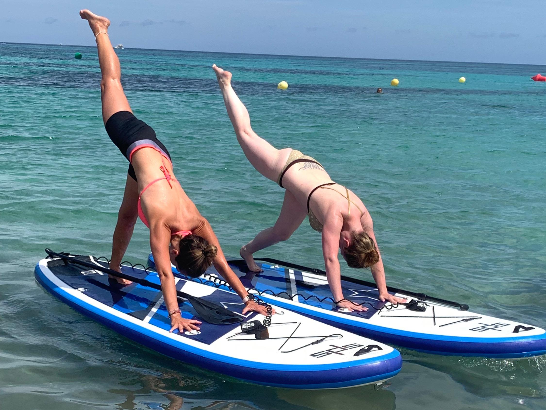 Yoga und SUP dog