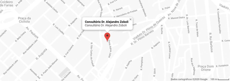 Mapa Consultório Dr. Alejandro Zoboli