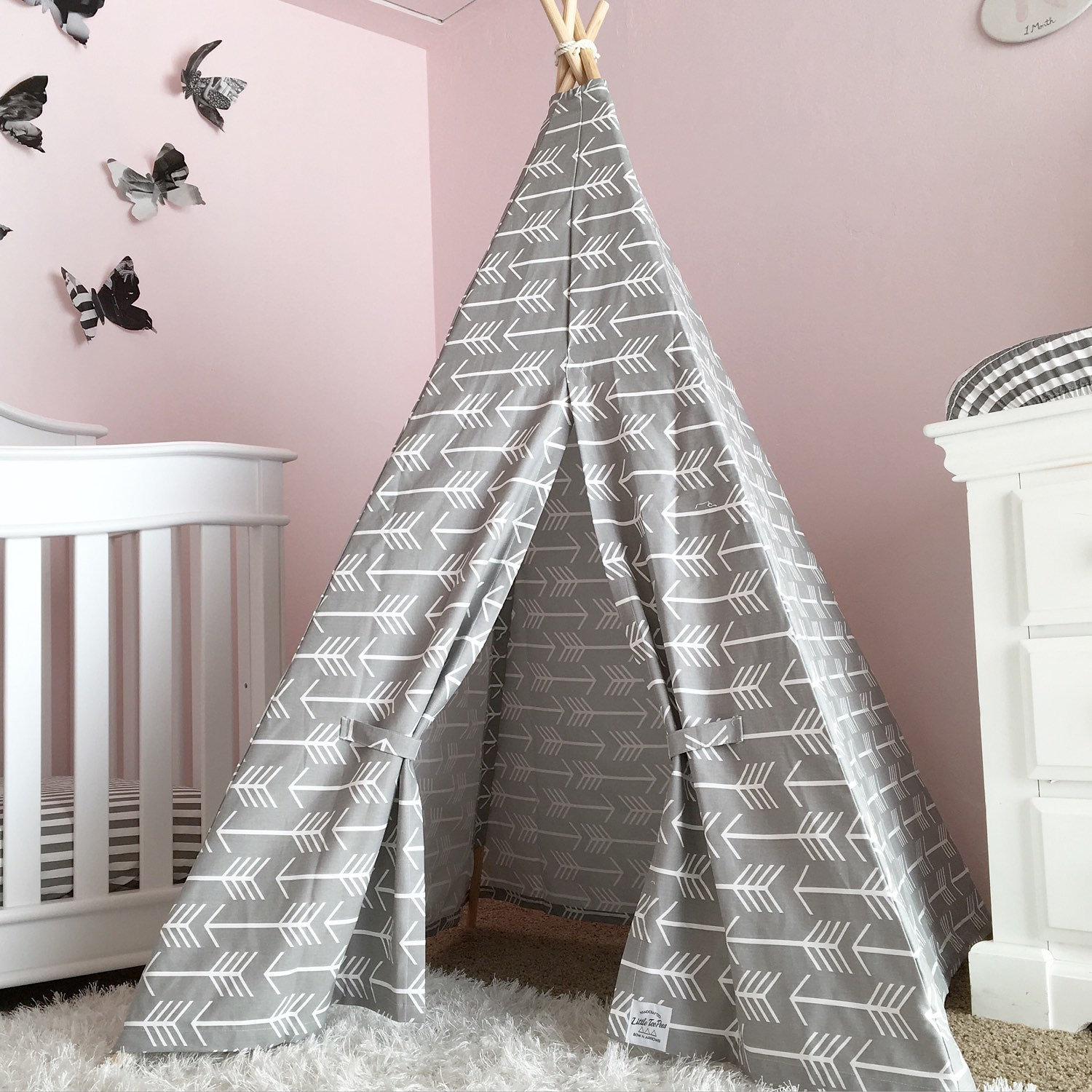 Design Kids Teepee little brave ones kids teepee tents grey arrow cotton canvas this is simple stylish and gender neutral the perfect addition to any room or modern nursery