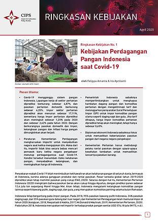 Kebijakan Perdagangan Pangan Indonesia s