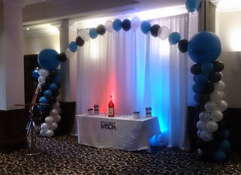 Balloon Pillars and arch