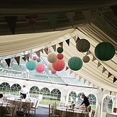The marquee, lots of lanterns and I hand