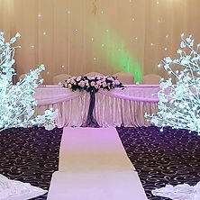 Beautiful white and silver wedding with