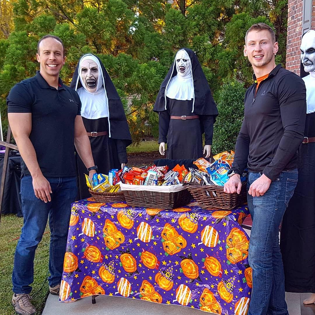 Brian Taillon and Steven Mueller The Nun Halloween 2018
