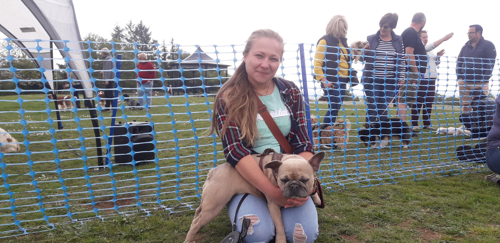 Our lovely vet with her rescued Frenchie