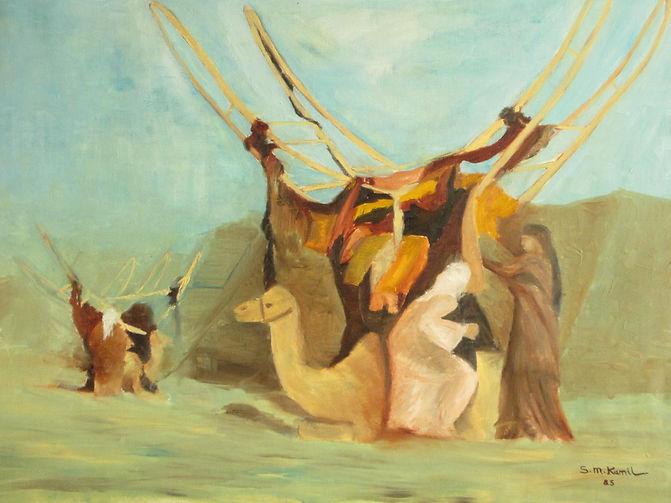 kamelsänfte einer Häptlingsfrau_Öl_70x10