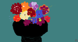 flowers in a black vase.png