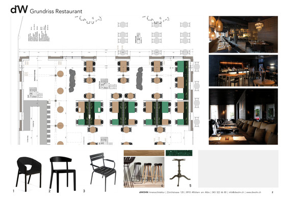 diWOHN Grundirss Restaurant