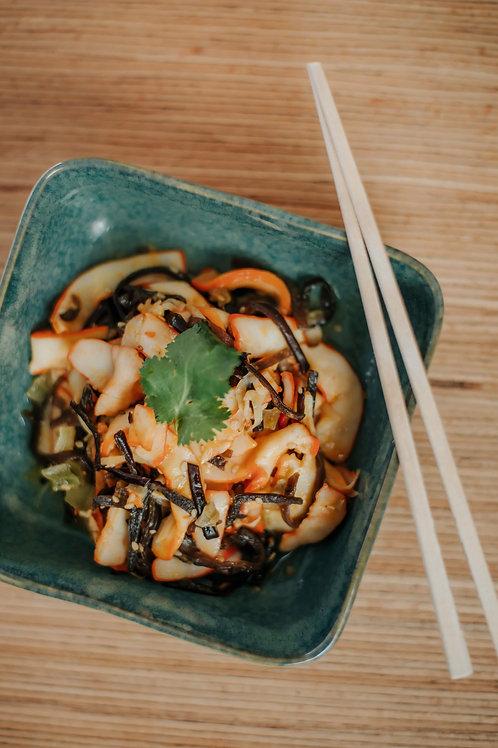 Entrée : Salade de calamars