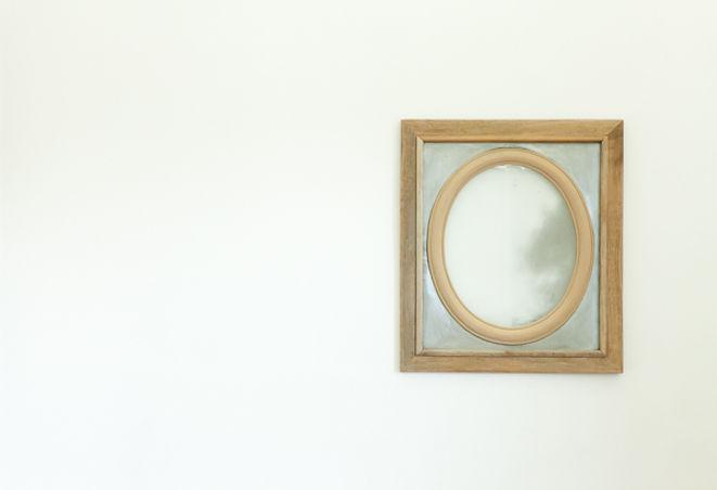 miroir voilé - carré