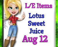 Sweeten your farm with Lotus Sweetjuice! (Market LE Items)  Aug 12 2019