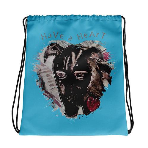 Save Animals / 2 N 1 / Drawstring Bag / Blue