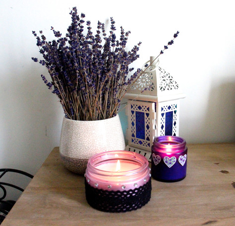 RECYCLED JAR CANDLES RECIPE