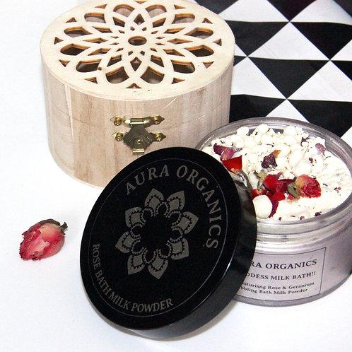 Rose Bath Milk Gift Boxed