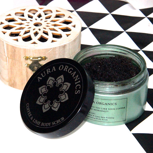 Coffee scrub in gift box